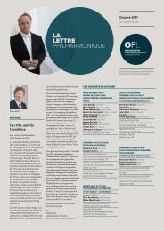 La Lettre Philharmonique d'octobre 2011 - Orchestre ...