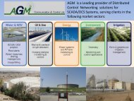 AGM is a Leading provider of Distributed Control Networking ...