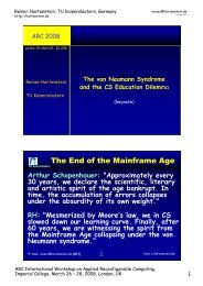 Reconfigurable Computing - Hartenstein