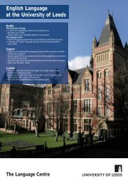 English Language at the University of Leeds - School of Politics ...