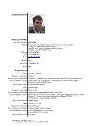 Europass Curriculum Vitae - Centre International de Recherche sur l ...