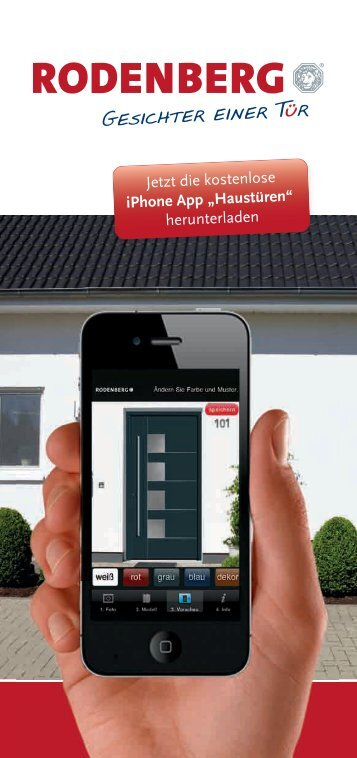 Rodenberg iPhone App Flyer