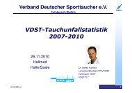 VDST-Tauchunfallstatistik 2007-2010 - LTVT