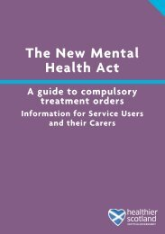 A guide to compulsory treatment orders - Scottish Government