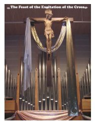 The Feast of the Exaltation of the Cross - St. Thomas More Church