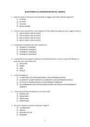 questionario di fine corso microartropodi del terreno - Scuola21