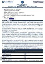 Foglio Informativo Finanziamento[PDF 127 kb] - Invest Banca