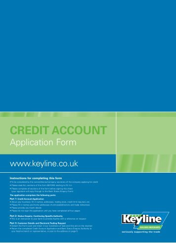 Credit Account Application Form - Keyline