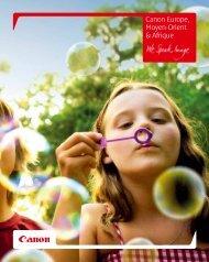 Canon Europe, Moyen-Orient & Afrique 2012 [PDF ... - Canon France