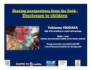 Sharing Perspectives from the Field – Disclosure to Children