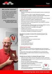 Evaluation approaches - Volunteering Qld
