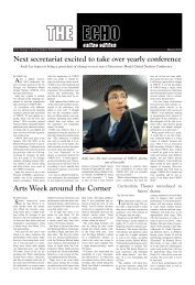 Echo Student Newspaper - St. George's School