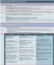 Kongressprogramm | Dienstag, 19. Juni 2012 - DiagnostikNet | BB
