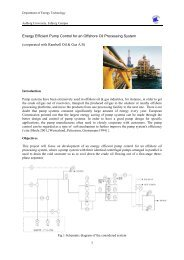 1 Energy Efficient Pump Control for an Offshore Oil Processing System