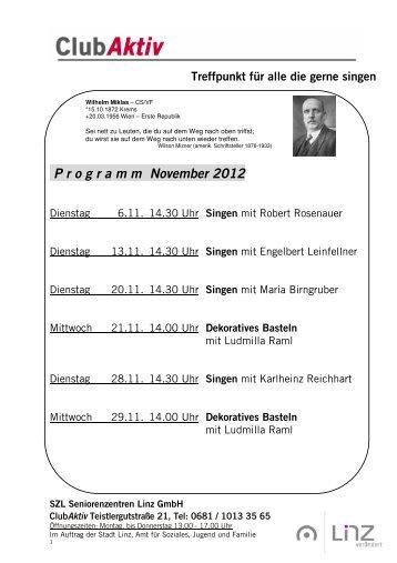 PDF-Datei (125 kB ) Programm Club Aktiv - Stadt Linz - Portal