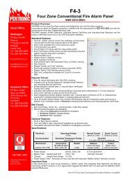 F4-3 Four Zone Conventional Fire Alarm Panel - Pertronic Industries