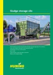 Sludge storage silo - Huning Maschinenbau