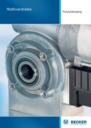 A/AW-Rolltorantriebe ohne Fangvorrichtung - Becker-Antriebe - Home