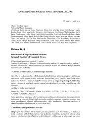 protokoll - Põllumajandusministeerium