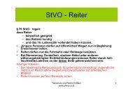 StVO Reiter StVO - Reiter