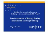 Implementation of Energy Saving measures in Existing Buildings
