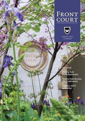 Issue 19   Summer 2013 - Trinity Hall - University of Cambridge