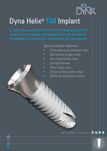 Dyna Helix® TM Implant - Dyna Dental