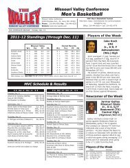 Men's Basketball - Missouri Valley Conference