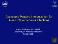 Live Attenuated Vaccines against H5N1 Influenza Viruses