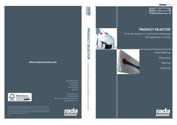 Rada product selector