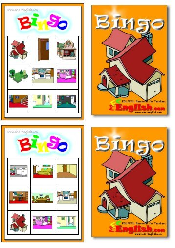 bingo cards - MES English