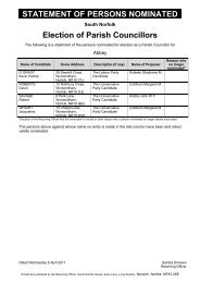 Statement of Persons Nominated for Election and Parish Councillors ...