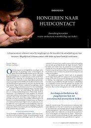 Onderzoek: Hongeren naar huidcontact - Borstvoeding.com