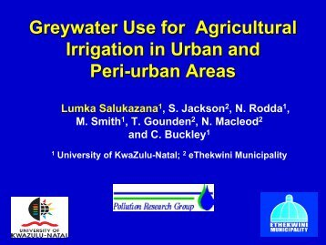 Greywater Use for Agricultural Irrigation in Urban and Peri ... - SSWM
