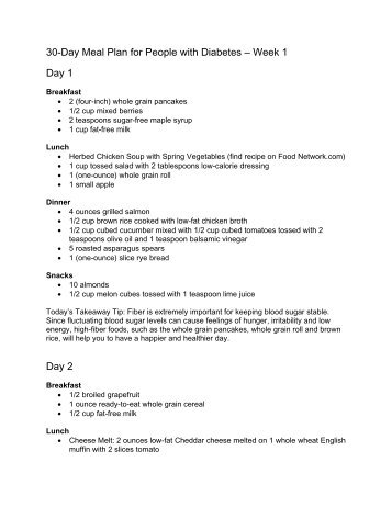 30 day meal plan