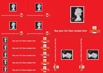 Point of Sale stickers - Royal Mail