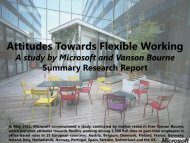 Microsoft Flexible Working Summary Research Report