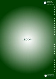 ANNUAL REPORT of the Hungarian Petroleum Association 2004