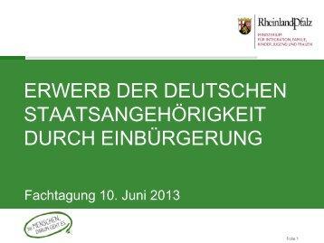 Ermessenseinbürgerung - einbuergerung.rlp.de   Startseite
