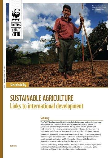 sustainable agriculture - WWF UK