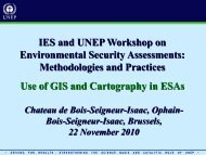 Use of GIS and Cartography in ESAs - Institute for Environmental ...