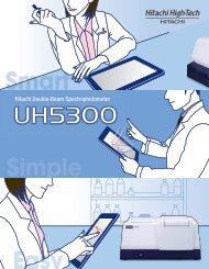 Hitachi Double-Beam Spectrophotometer - Hitachi High ...