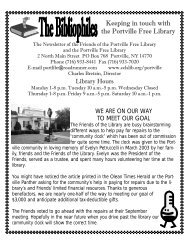 Keeping in touch with the Portville Free Library