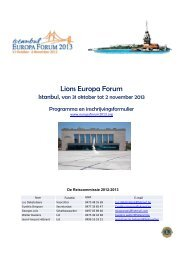Lions Europa Forum - Lions Clubs International - MD 112 Belgium