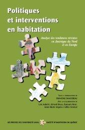 Politiques et interventions en habitation : analyse des tendances ...