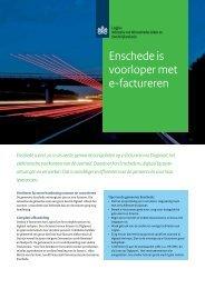 Gemeente Enschede is voorloper met e-factureren - Logius