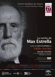 La noche de Max Estrella - Centro Dramático Galego