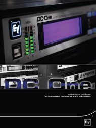 DC-One Brochure 1.28 MB | 24 January 2008 - Electro-Voice
