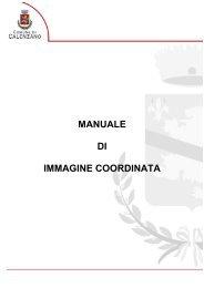 MANUALE DI IMMAGINE COORDINATA - Comune di Calenzano