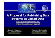 streams as Linked Data - Linked Data on the Web workshops
